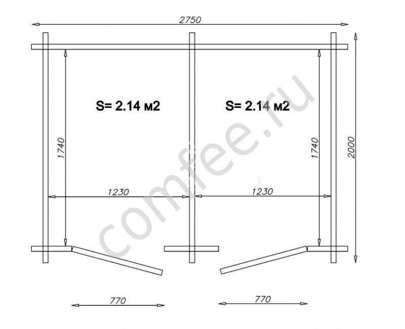 Как построить туалет с хозблоком на даче своими руками размеры чертежи 8